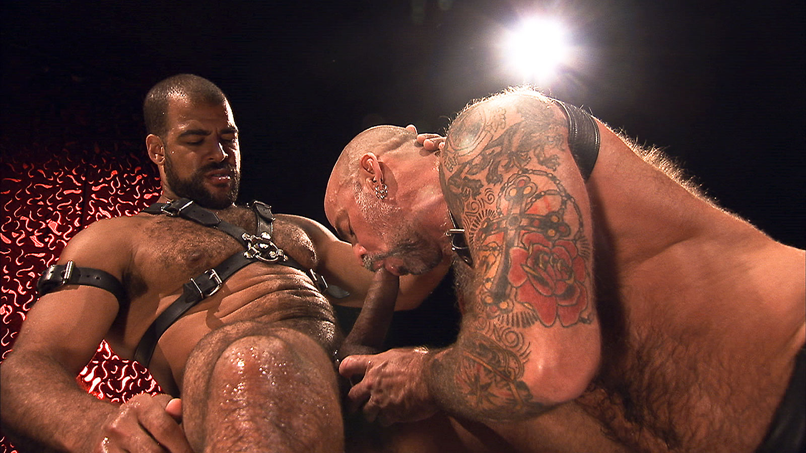 Nate Pierce and Roman Wright - Leather and Piss - Scene 1