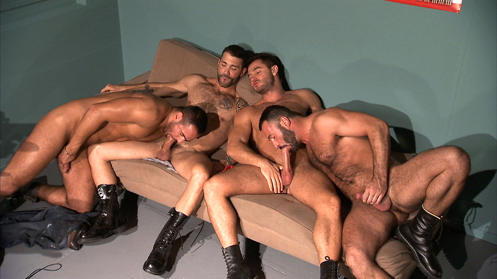 TitanMen Exclusives Jessy Ares and Marco Wilson with Junior Stellano and Wilfried Knight - Command Performance - Scene 3