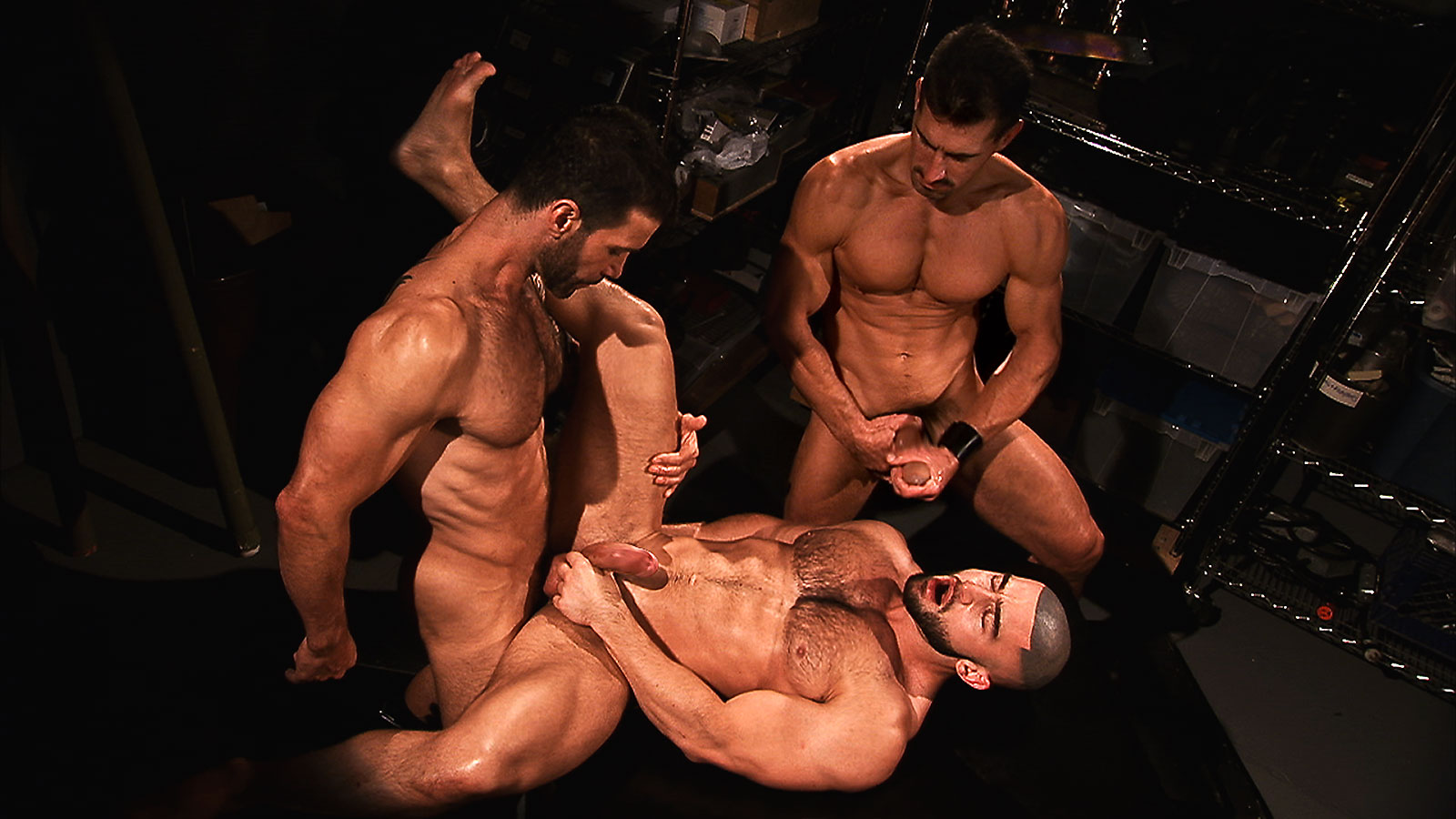 TitanMen Exclusives David Anthony and Francois Sagat with Junior Stellano - Incubus 2: The Final Chapter - Scene 1